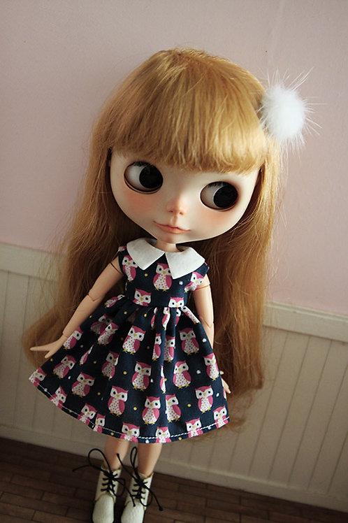 Blythe/Pullip outfit summer owl cute dress