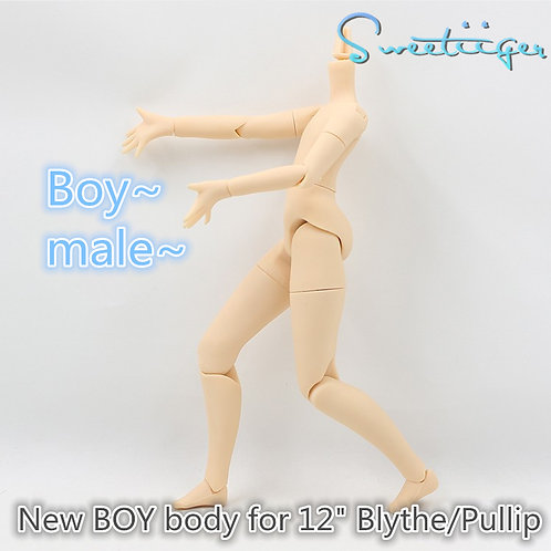 """Sweetiiger special BOY jointed body for 12"""" Blythe"""
