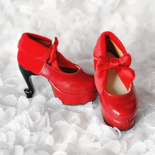 Sweetiiger 1/4 bjd shoes msd high heels Red velvet