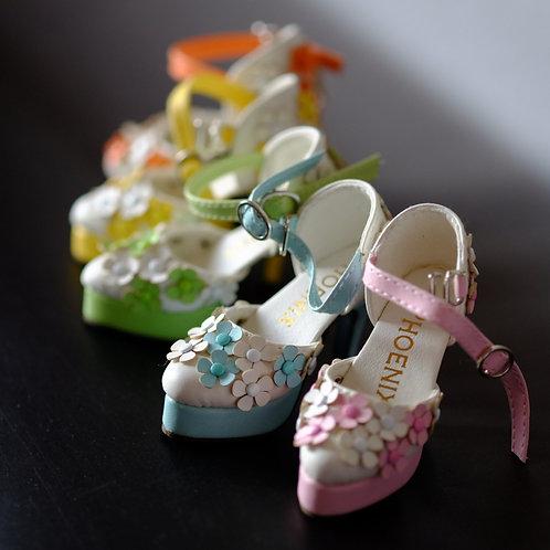 1/4 BJD MSD shoes high heels summer garden 5 colors