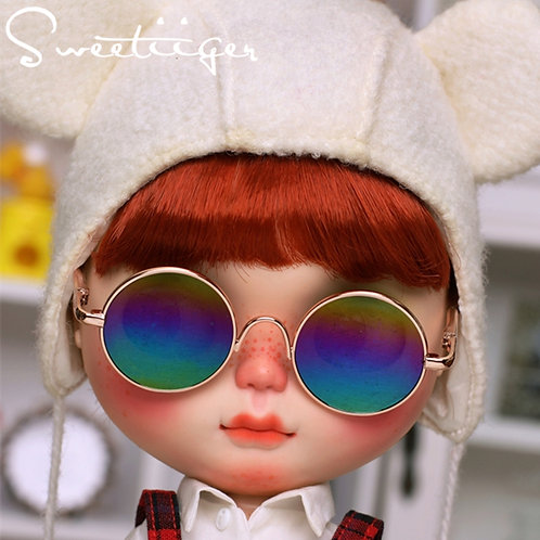 Blythe cool gold sun glasses rainbow