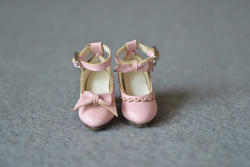 "12""Blythe/Pullip/mmk/JerryB shoes Asymmetry pink"