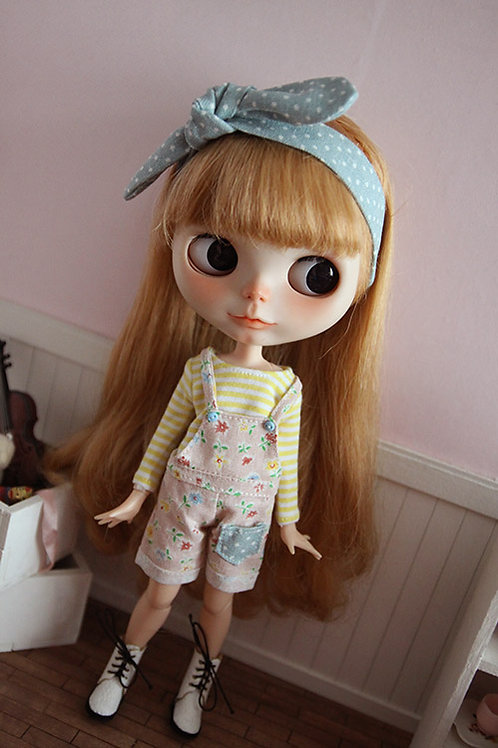 Blythe/Pullip sweet flower overall outfit