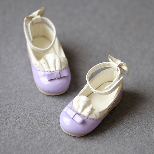 1/6 BJD shoes lavender lace shoes