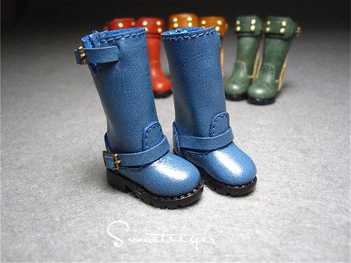 "12""Blythe/Pullip/mmk/JerryB shoes navy boots"
