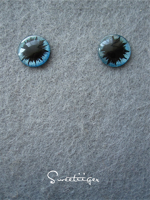 hand made sparkle color cat Blythe eye chips
