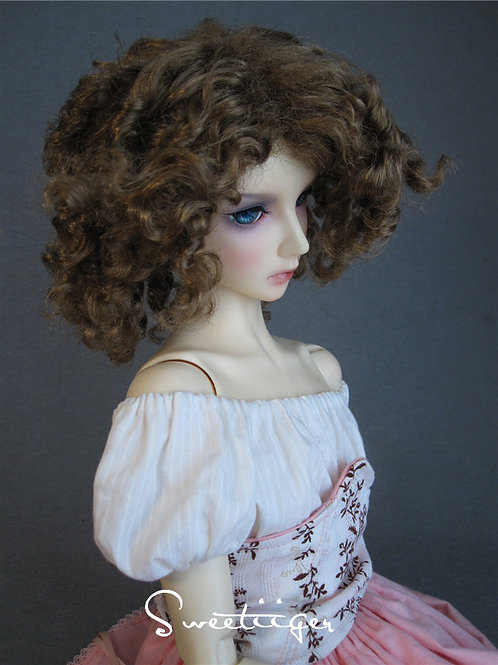 "Manmade-Mohair 6-7"" 7-8"" 8-9"" BJD Doll wig"