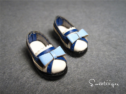 "12""Blythe/Pullip/mmk/JerryB shoes metal navy flat"