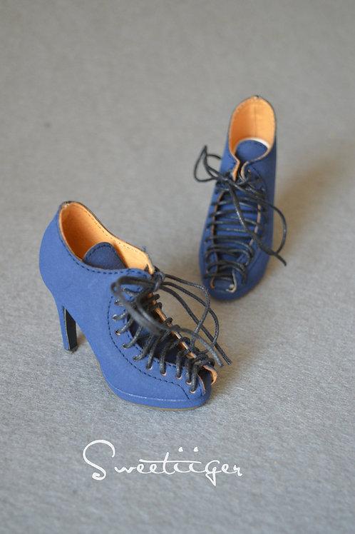 1/3 BJD shoes sexy matte leather fashion heels