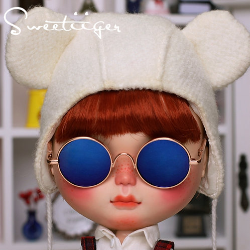 Blythe cool gold sun glasses blue