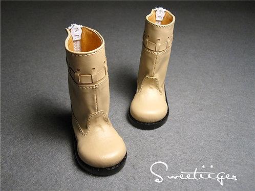 1/4 BJD shoes ivory strip boots