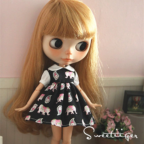 Blythe/Pullip sweet elephant dress