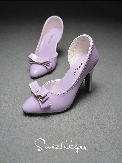 1/3 BJD shoes sweet elegant high heels milk purple