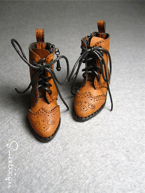 1/6 BJD carved Oxford boots