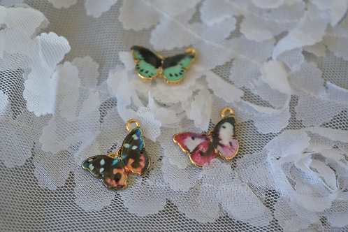 Blythe pull ring noble metal butterflies 3 sets
