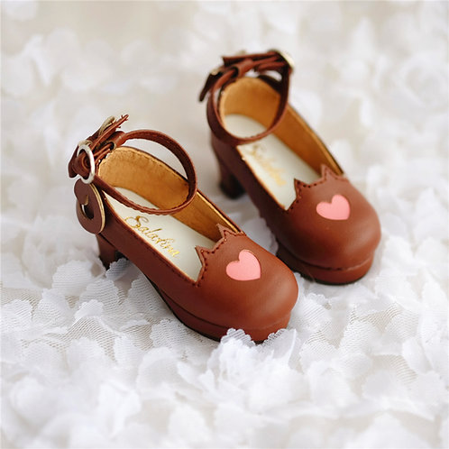 1/4 BJD shoes MSD sweet chocolate cat tails