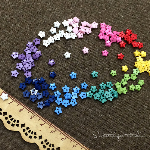 Tiny button 10 colors special doll clothes 10 pic. star