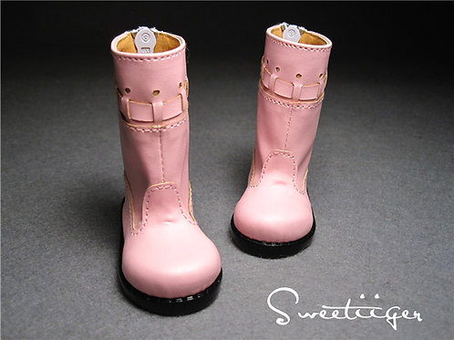 1/4 BJD shoes pink strip boots