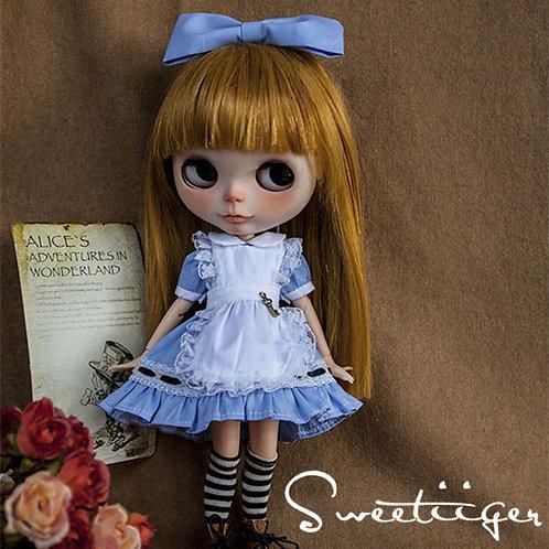 Blythe/Pullip blue Alice outfit 4 sets