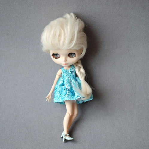 Blythe/Pullip [cosplay outfit -Frozen Elsa]