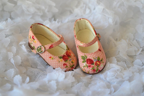1/4 BJD MSD shoes strawberry pink flat shoes