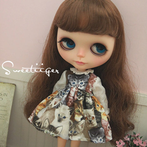 Blythe/Pullip kitten dress