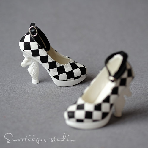 1/3 BJD shoes special chess high heels-[Squares]