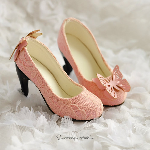 1/3 BJD high heel shoes art line-pink [Butterfly Dreams]