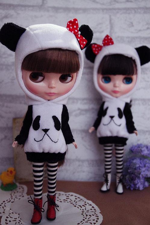 Blythe/Pullip cute panda outfit 2 sets