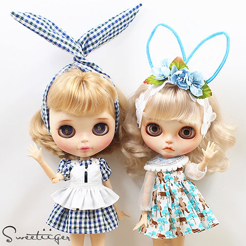 Blythe/Pullip outfit bunny ears 2 styles available