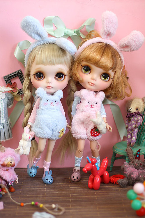 Blythe/Pullip Marshmallow bunny outfit 6 sets