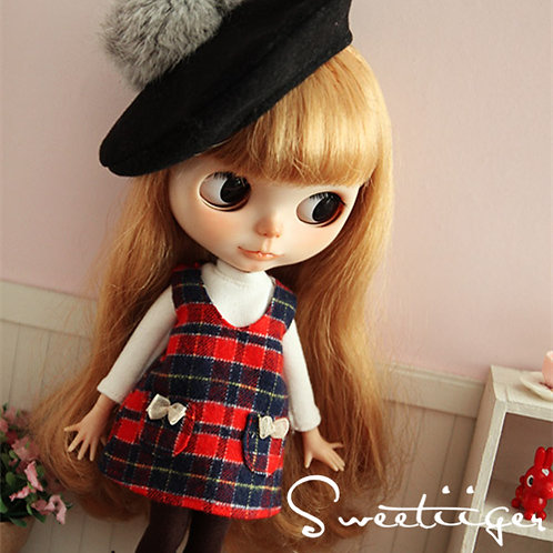 cute 1/6 doll Blythe pullip azone Jerry Berry clothes outfit dress