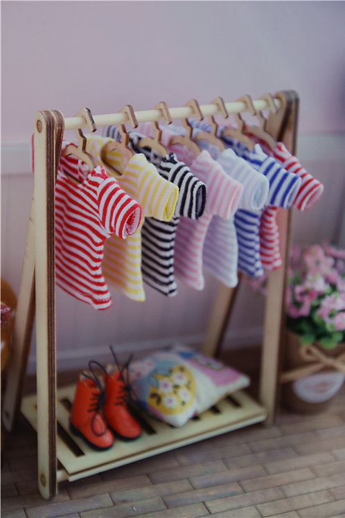 Blythe/Pullip stripe short sleeve T-shirt 6 colors