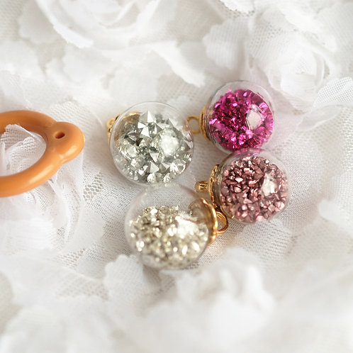 Blythe pull ring noble ore crystals Gemstone Planet 5 colors