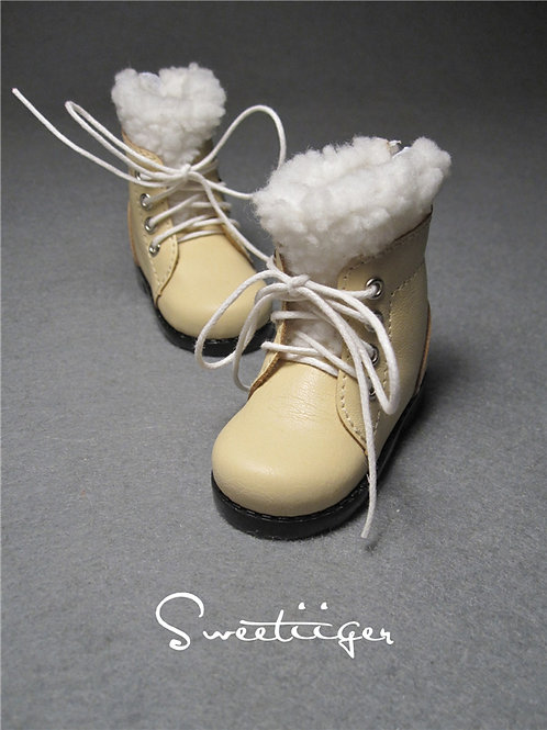 1/4 BJD shoes snow fur boots