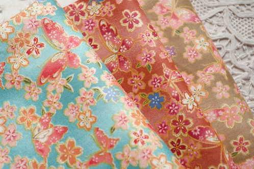 50 *50 cm rose 100% butterfly doll clothes fabric