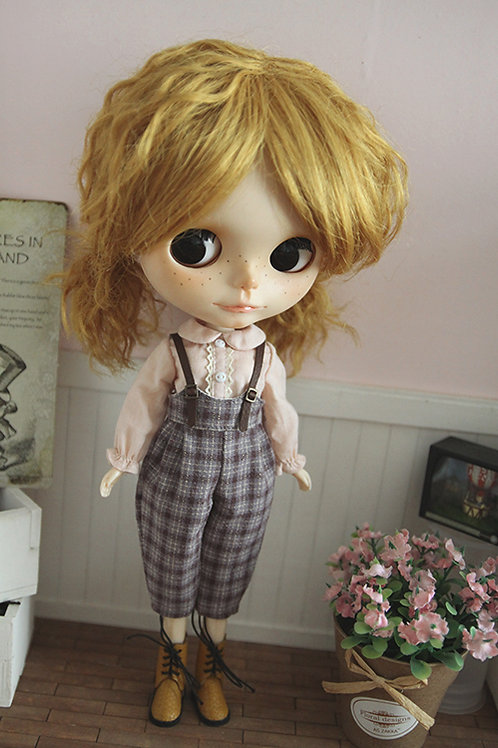 Blythe/Pullip sweet Case grain overall outfit