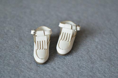 "12""Blythe/Pullip/mmk/JerryB shoes white tassel"