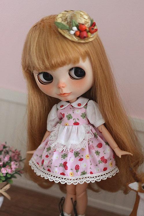 Blythe/Pullip sweet strawberry dress [pink]