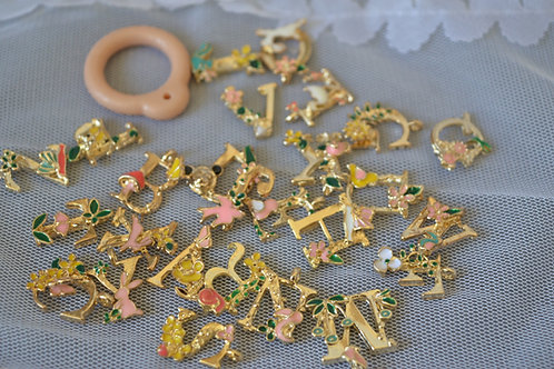 letters A-Z Blythe pull ring noble metal 26 name letter