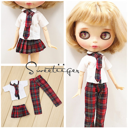 Blythe/Pullip outfit high school students 4 sets