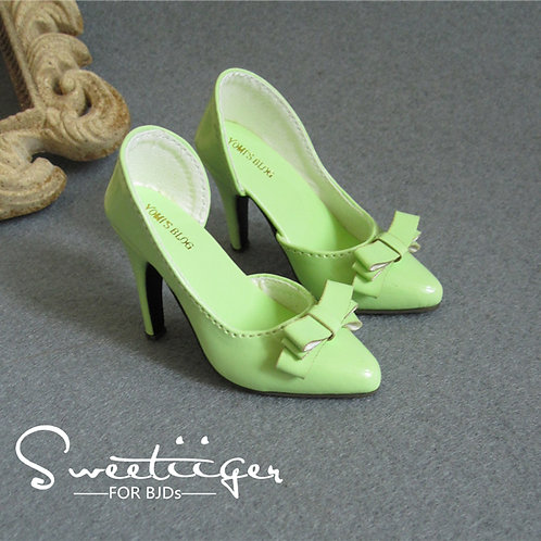 1/3 BJD shoes sweet elegant high heels milk green