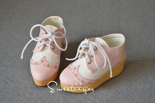 1/3 BJD shoes carved leather Oxford Platform shoes