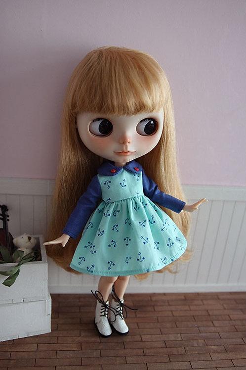 Blythe/Pullip sweet Sea anchor dress