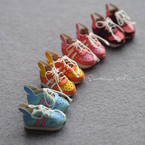 """12""""Blythe/Pullip/mmk/JerryB shoes wings trainer NEW colors"""