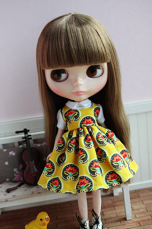 Blythe/Pullip sweet print flower dress