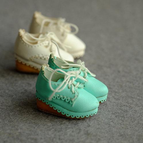 """12""""Blythe/Pullip/mmk/JerryB shoes [leather lace Platform]"""