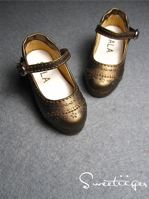 1/4 BJD elegant metal leather oxford Lolita shoes