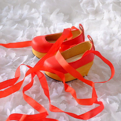 1/4 BJD shoes elegant Red plat form dance shoes
