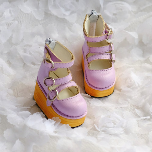 1/6 BJD shoes lavender thick lolita shoes